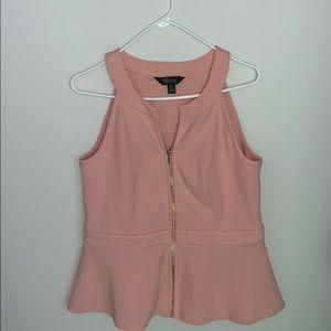 Women light pink blouse